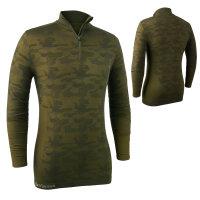 Deerhunter Camou Wolle Underhemd mit Reißverschluss...