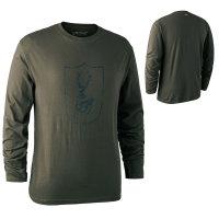 Deerhunter Logo T-Shirt mit langen Ärmeln